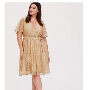 Torrid gold dress